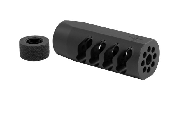 Seekins Precision AR ATC Muzzle Brake 1/2X28 Threads - Melonited Black Finish