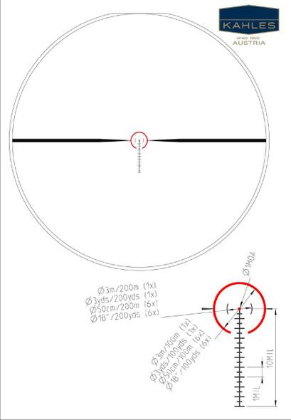 Kahles SM1 Reticle - K16i Rifle Scope 1-6x-24mm