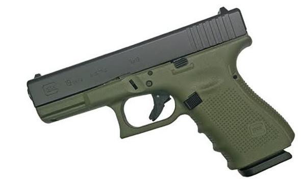 Glock 19 Gen 4 9mm Battlefield Green (pi1950203bfg)