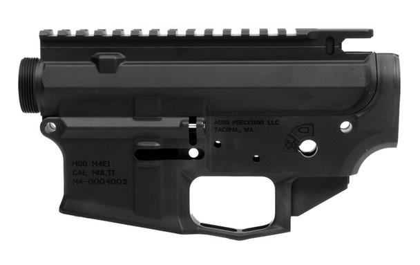 Aero Precision M4E1 Threaded Receiver Set - Anodized Black (APCS100177S)