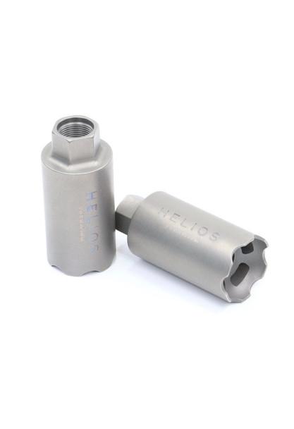 V Seven Helios Linear Compensator 5/8-24 Raw Titanium