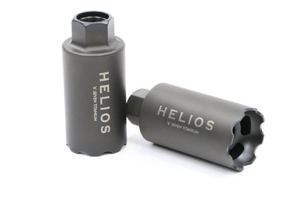 V Seven Helios Linear Compensator 1/2-28 Black DLC Titanium