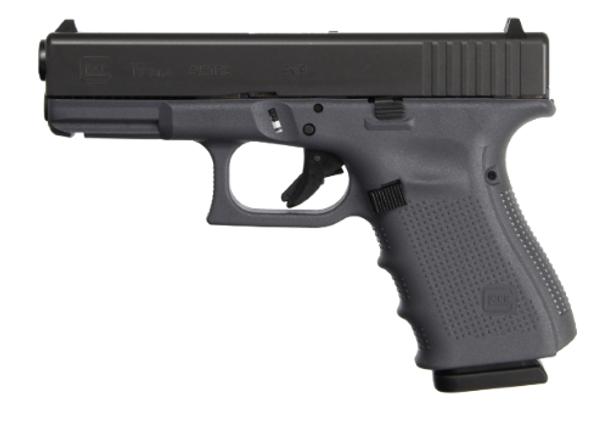 Glock 19 Gen4 9mm Gray Frame 17+1rds