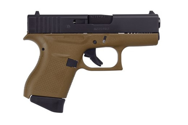 Glock 43 Dark Earth Frame 9mm - 6+1rd