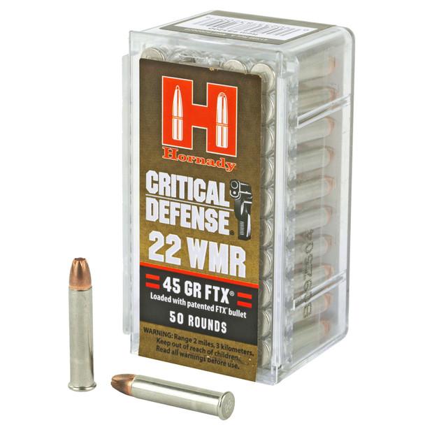 Hornady Critical Defense 22WMR 45gr FTX 50rds