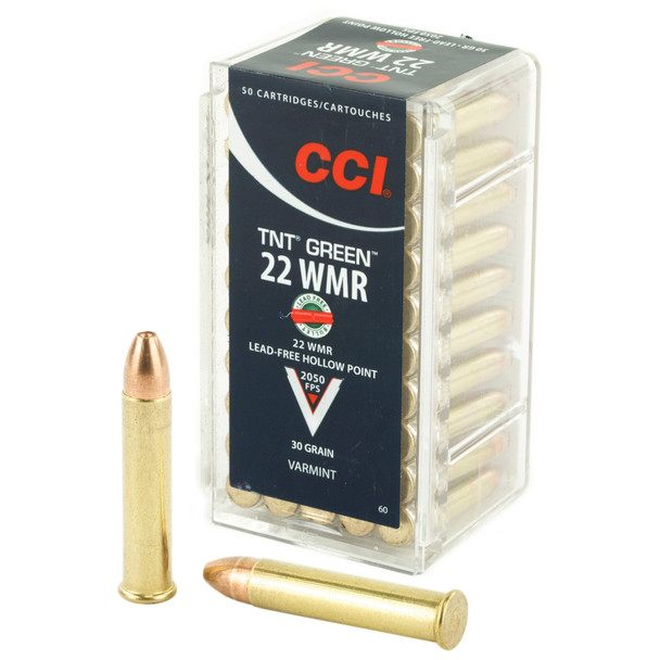 CCI TNT Green 22 WMR 30gr. HP
