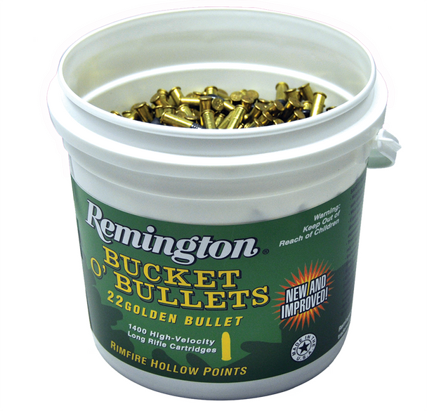 Remington Bucket O' Bullets, Golden Bullet, .22LR, LRNHP, 36 Grain, 1,400 Rounds