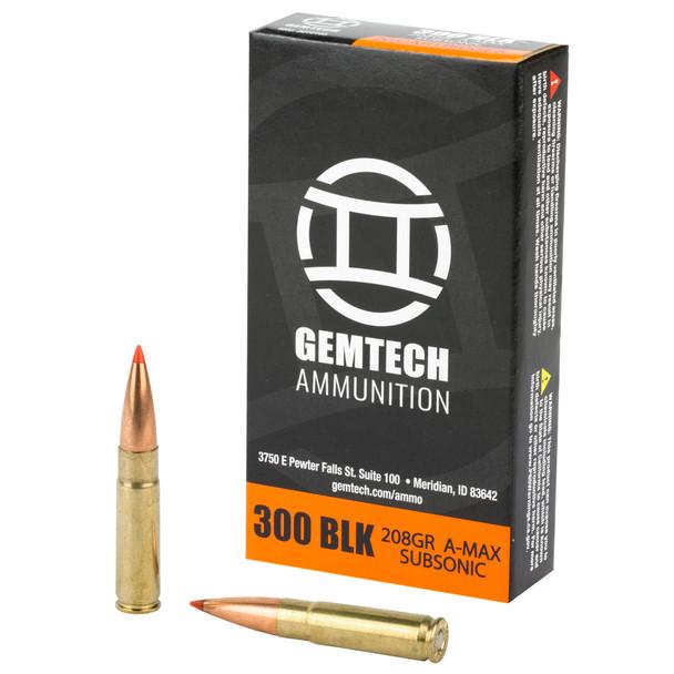Gemtech 300blk 208gr Subsonic 20rd