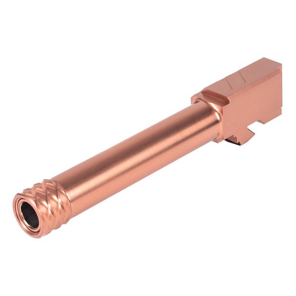 Zev Technologies Pro Threaded Barrel For Glock 19 (Gen1-5) - Bronze
