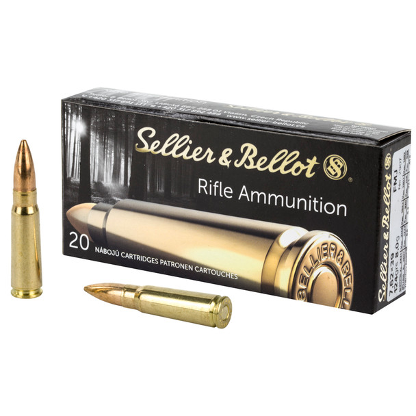 Sellier & Bellot, Rifle, 762X39, 124 Grain, Full Metal Jacket, Non-Magnetic Projectile, 20 Round Box