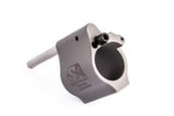 """Superlative Arms .625"""" Adjustable Gas Block, Bleed Off - Solid, Stainless Steel, Matte Finish"""