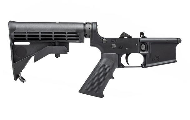 Aero Precision X15 Complete Lower With A2 grip and M4 Stock - Black