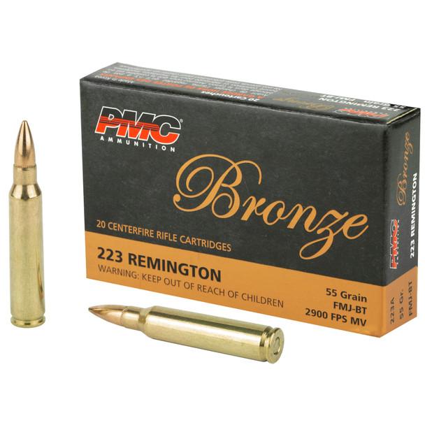 PMC Bronze - 223REM 55 Grain - Full Metal Jacket - 20 Round Box