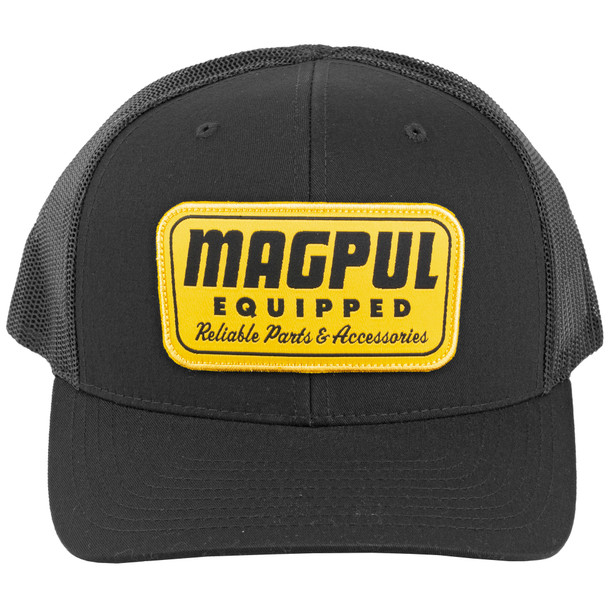 Magpul Industries Equipped Trucker Hat - Black with Gold Patch