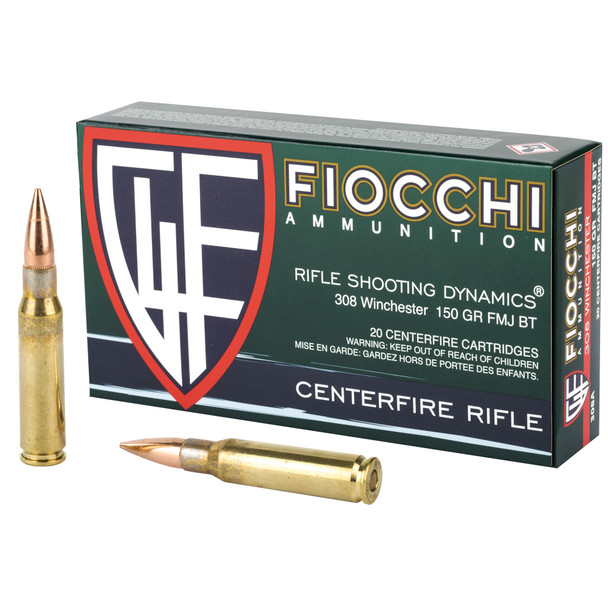 Fiocchi 308 Win 150gr FMJ - 20rd Box