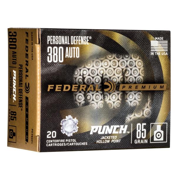 Federal Premium - Punch 380 ACP 85Gr JHP - 20 Rds