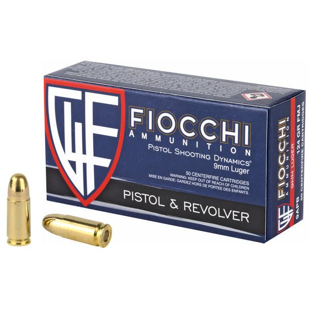 Fiocchi 9mm 124gr FMJ - 50rd Box