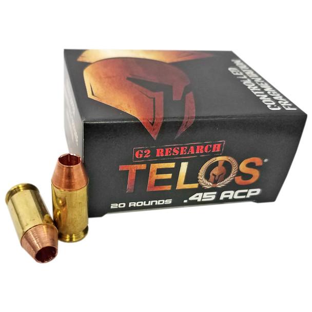 G2 Research Telos - 45ACP 160 Gr. Lead Free Copper - 20 Rds