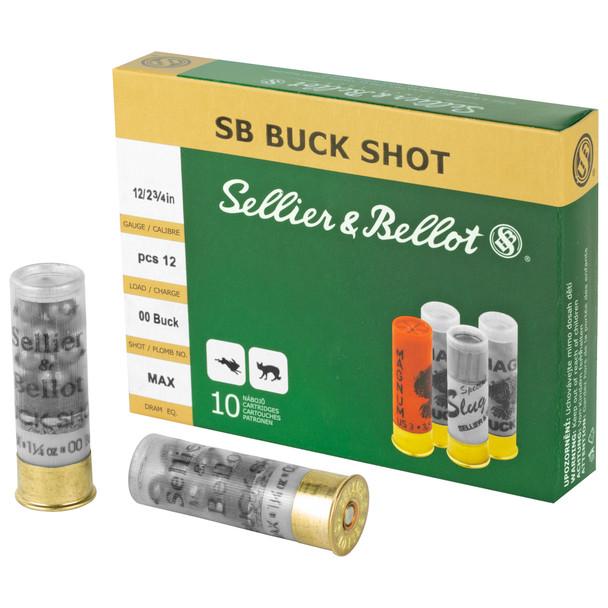 Sellier & Bellot 12ga 00 Buck - 10rd Box
