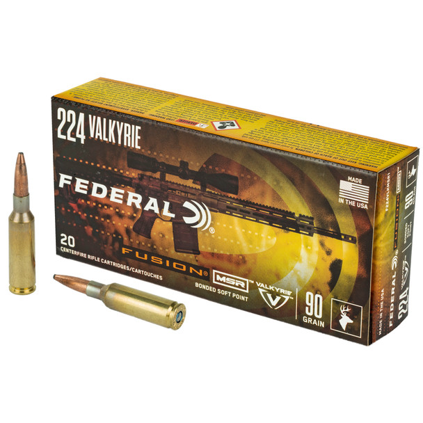 Federal Fusion - 224 Valkyrie 90 Grain Boat tail - 20 Rds