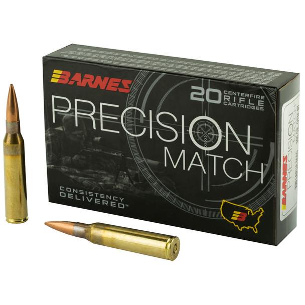 Barnes Precision Match - 338 Lapua 300 Grain OTM Boat Tail - 20 Rds