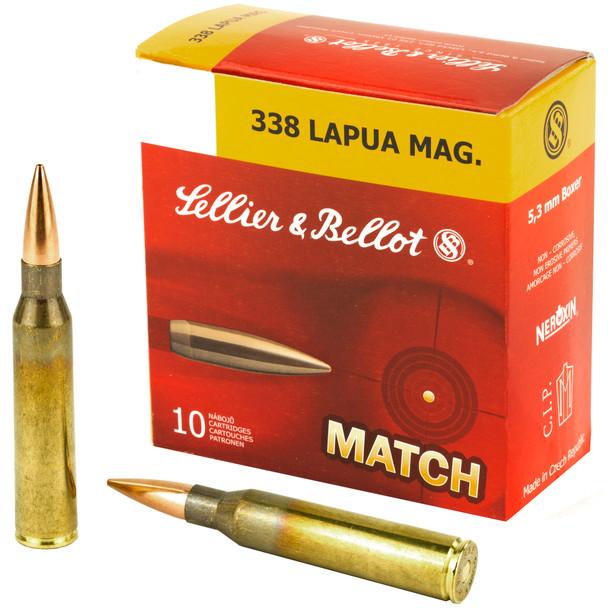 Sellier & Bellot Match - 338 Lapua 250 Grain BTHP - 10 Rds