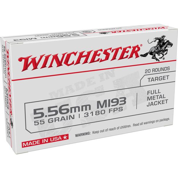 Winchester - M193 5.56 NATO 55 Grain FMJ - 20 Rds