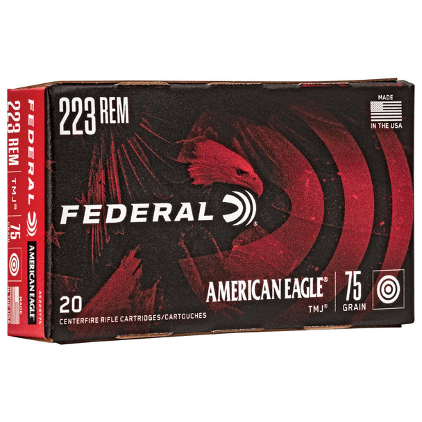 Federal American Eagle - 223 Rem 75Gr TMJ - 20 Rds