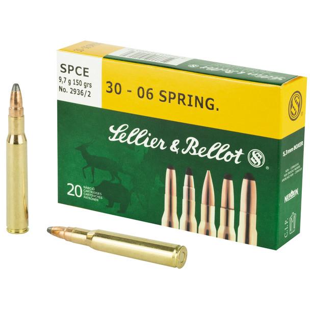 Sellier & Bellot - .30-06 150 Grain SPCE - 20 Rds