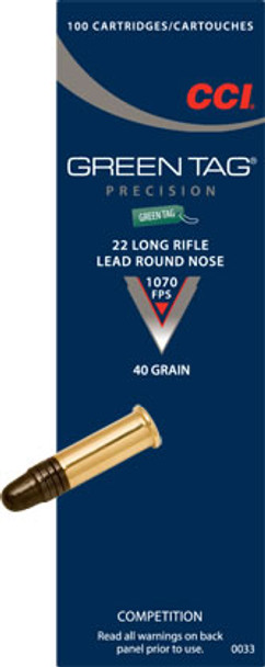 CCI 22LR Green Tag Competition Ammunition 0033