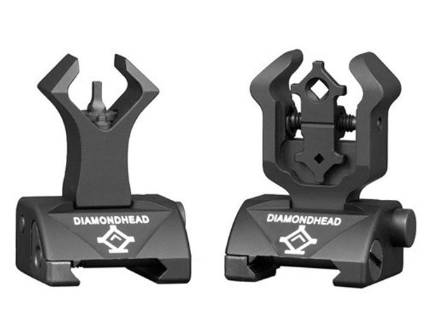Diamondhead Front & Rear Integrated Sighting System (ISS) Combat Flip-Up Sight Set (DMD1199)