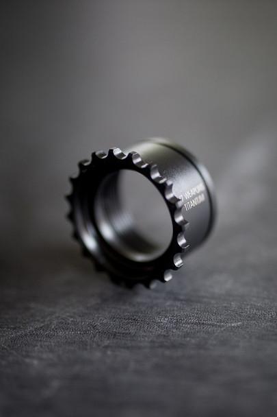 V Seven Titanium AR15 GI Barrel Nut Ion Bond Black