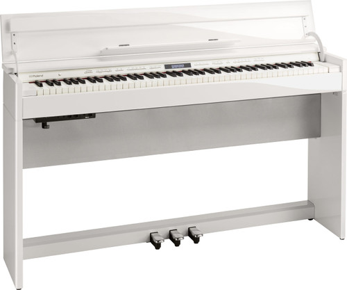 Roland DP603 PWC Polished White Digital Piano.