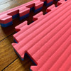 Reversible Tatami 40mm Interlocking floor mats showing edge strip