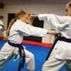 Students from Bay Karate in Tauranga New Zealand in their CORE uniforms