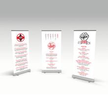 Dojo Kun pull-up banners
