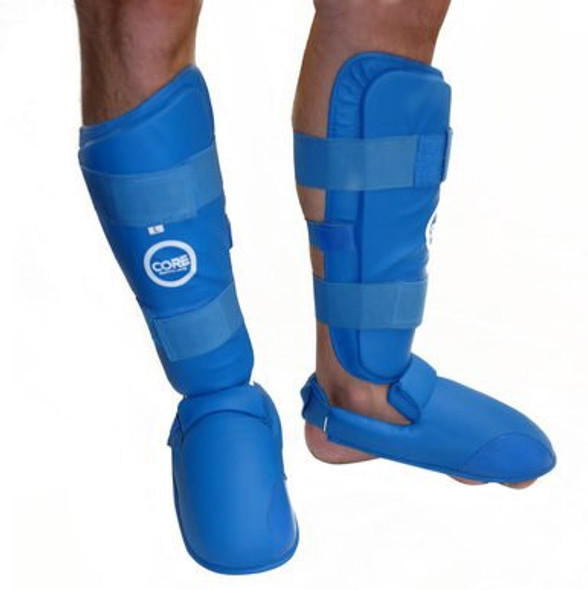 CORE Shin and Instep Protectors - Blue