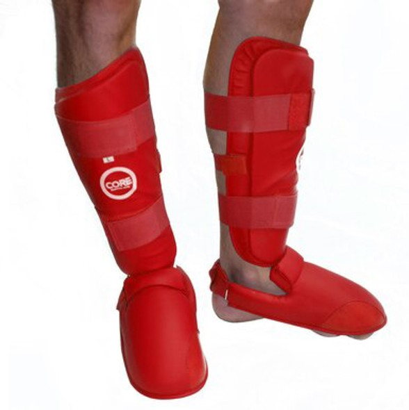 CORE Shin and Instep Protectors - Red