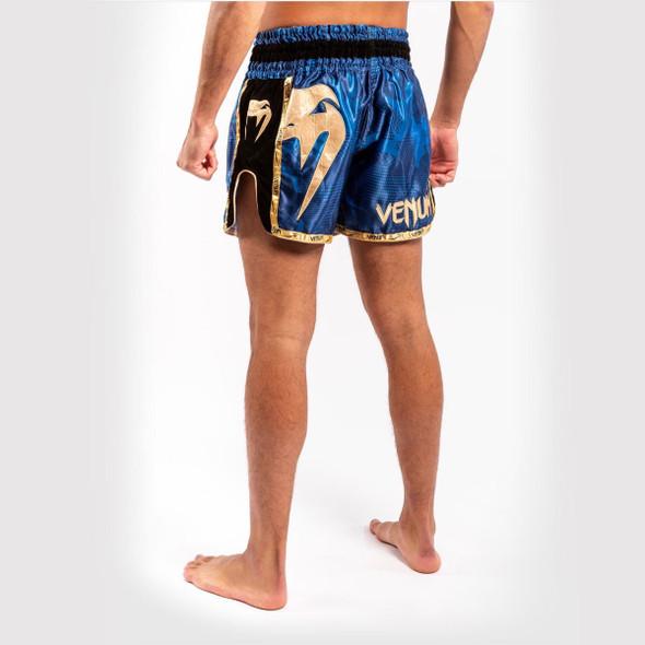 Venum Giant Camo Muay Thai Shorts (Blue/Gold)