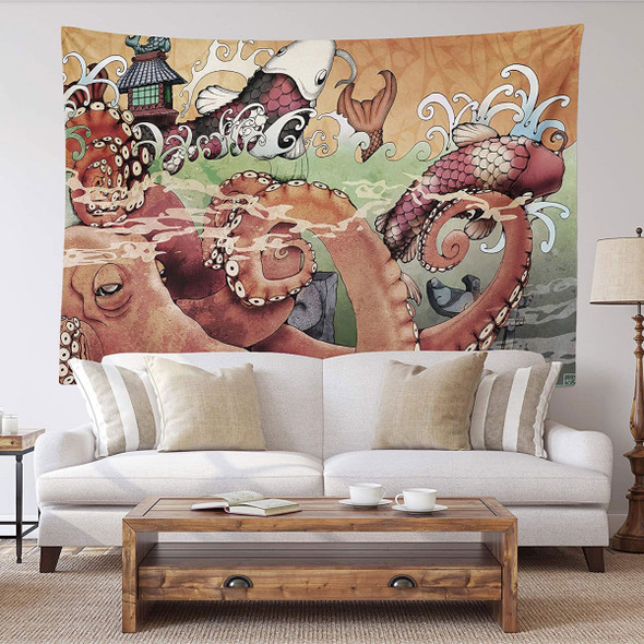 Japanese Wall Hanging (Mythical Octopus)