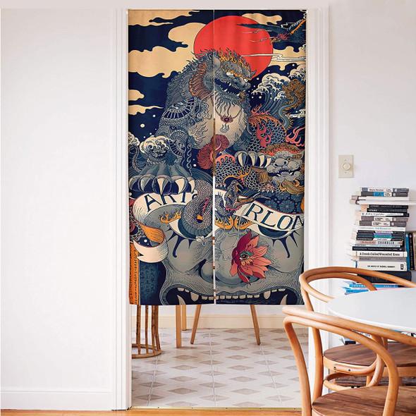 Japanese Doorway Curtain - Noren (Ukiyoe)