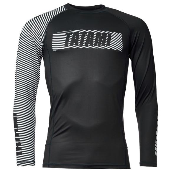 Tatami Essential 3.0 Long Sleeve Rashguard (Blk/White)