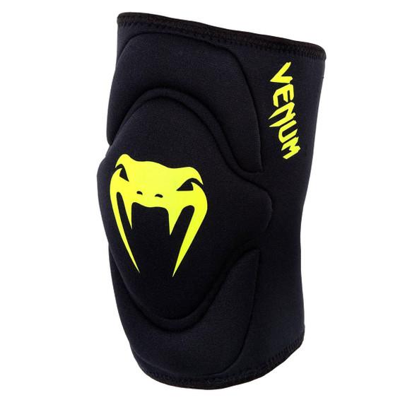 Venum Kontact Lycra Gel Knee Pads (Neon Logo)
