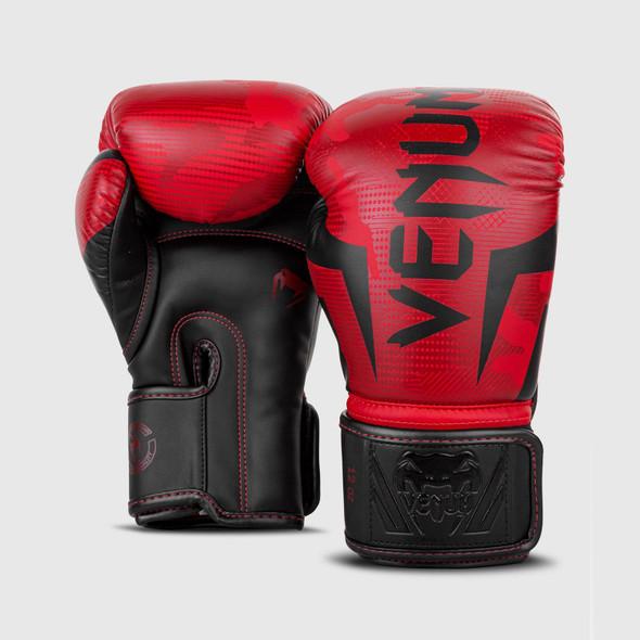 Venum Elite Boxing Gloves (Red/Camo)