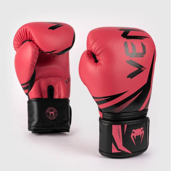 Venum Challenger 3.0 Boxing Gloves 16oz (Black/Coral)