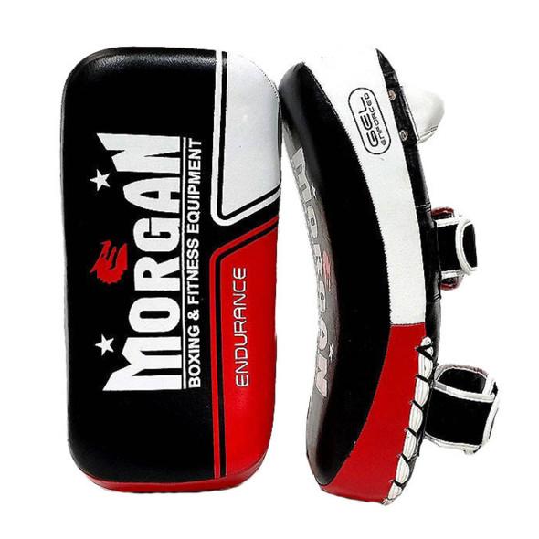 Morgan Endurance Gel Leather Curved Thai Pads (Pair)