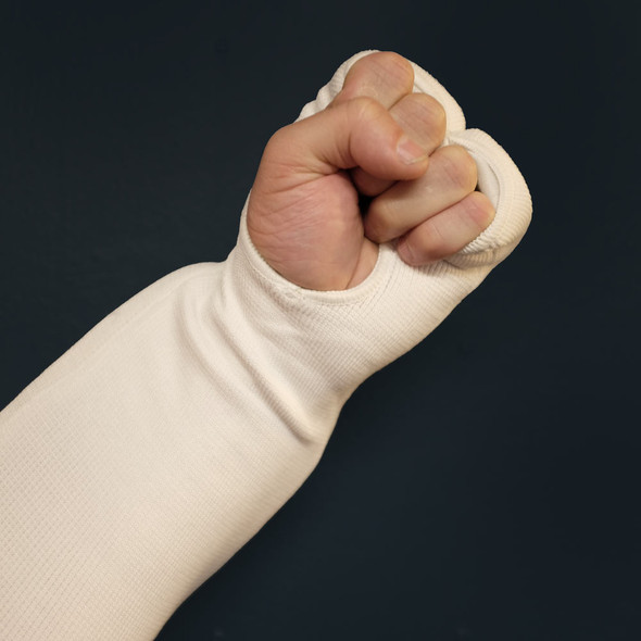 CORE Cotton Fist and Forearm Protector - White