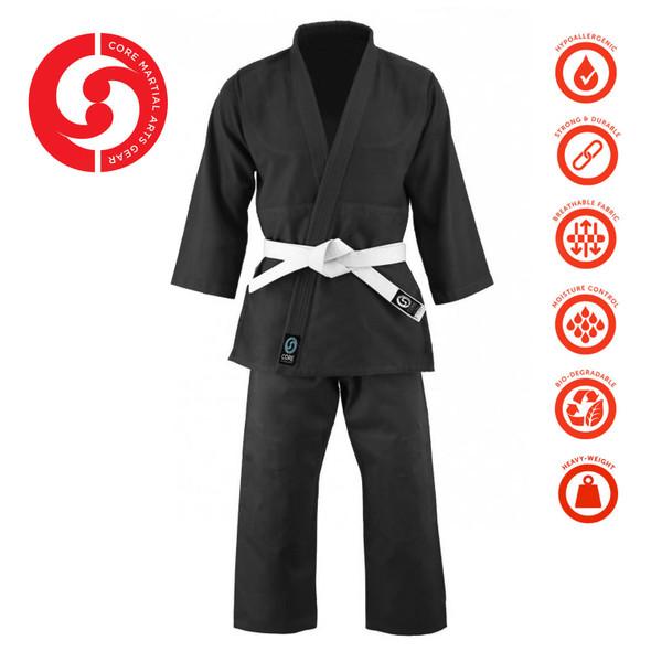 CORE Single Weave Judo Gi - Black