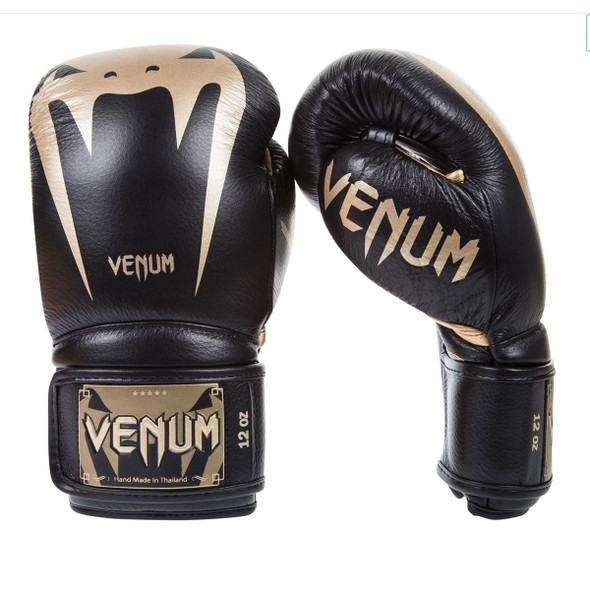 Venum Giant 3.0 Boxing Gloves - Nappa Leather (Black/Gold)