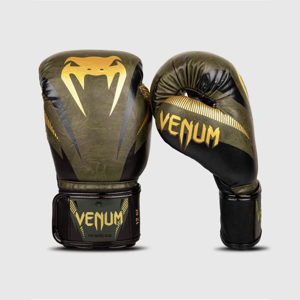 Venum Impact Boxing Gloves (Khaki/Gold)
